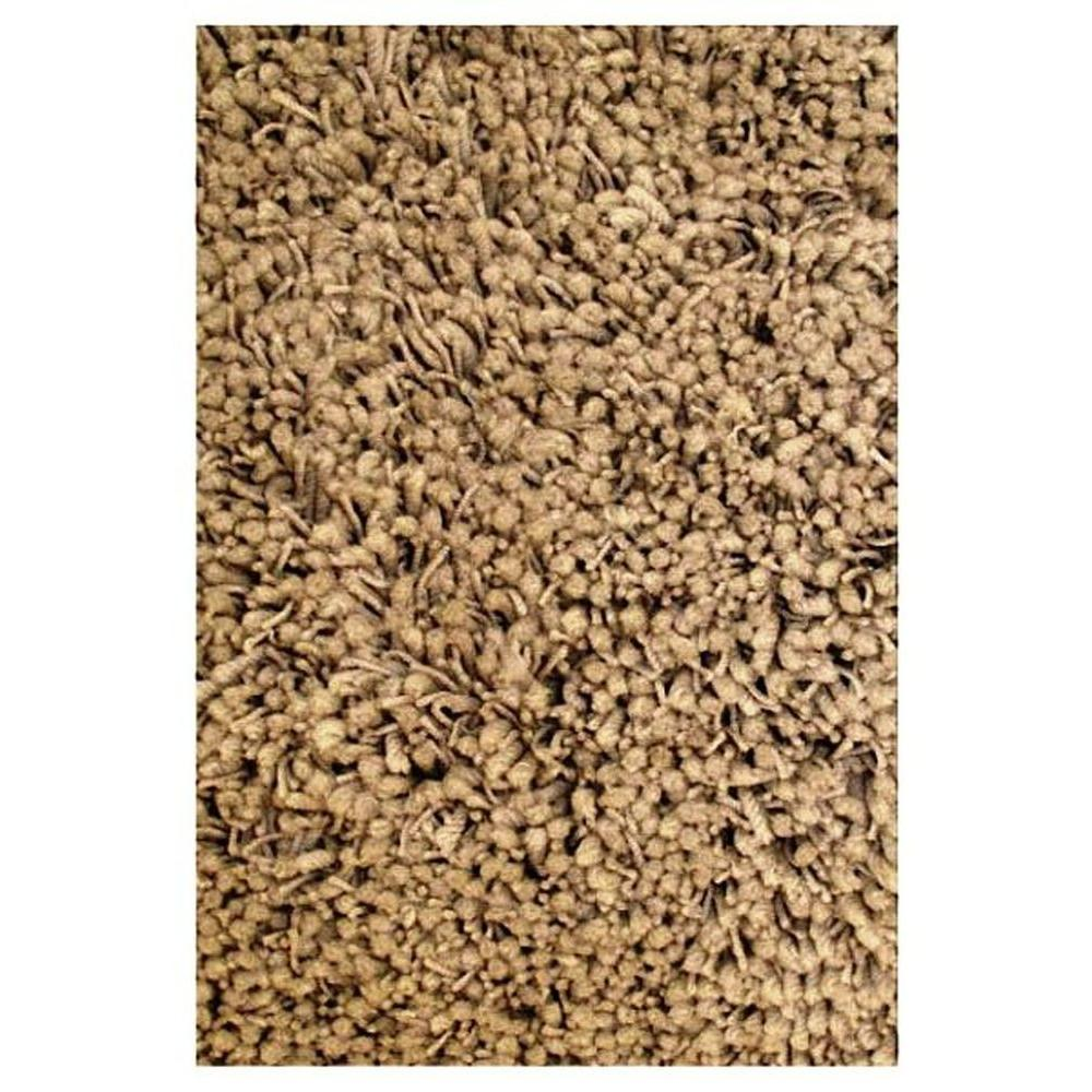 LA Rug Shag Plus Beige 3 ft. 3 in. x 4 ft. 10 in. Area Rug
