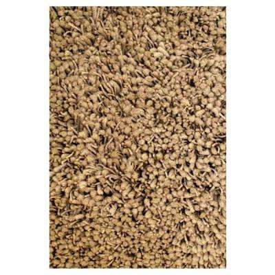 Shag Plus Beige 3 ft. 3 in. x 4 ft. 10 in. Area Rug