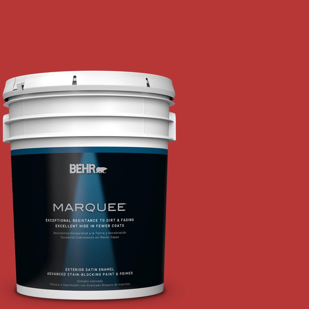 BEHR MARQUEE 5-gal. #S-G-170 Licorice Stick Satin Enamel Exterior Paint