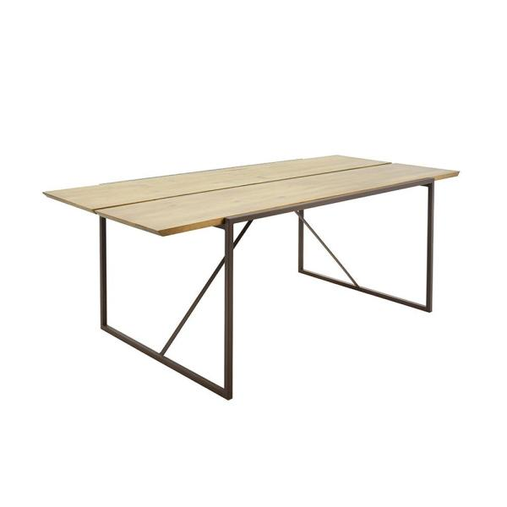 Artefama Furniture Brooklyn Oak And Dark Brown Dining Table