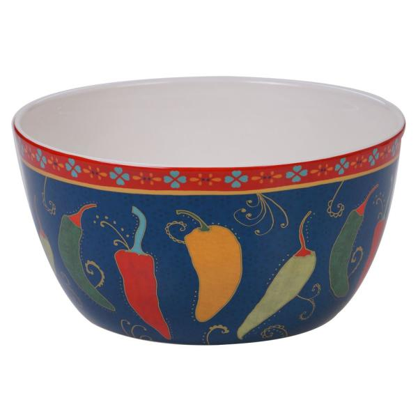 La Vida Multi-Colored 11 in. Deep Bowl