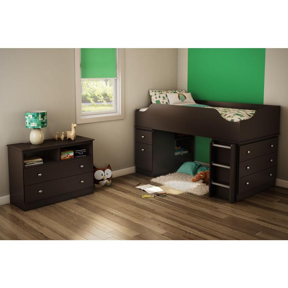 South Shore Tree House Media 2-Drawer Chocolate Chest