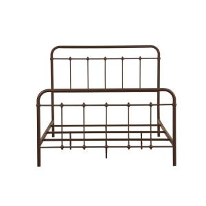 All-in-1 Brown Queen Bed Frame