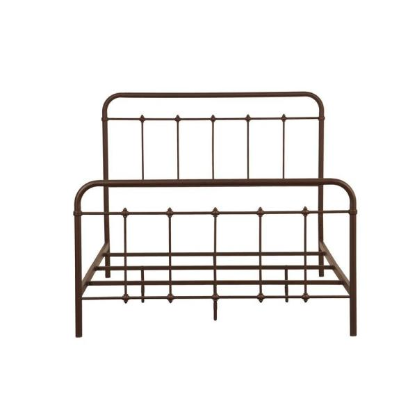 PRI All-in-1 Brown Queen Bed Frame