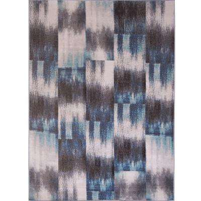 Somerset Blue/Ivory 5 ft. x 7 ft. Indoor/Outdoor Area Rug