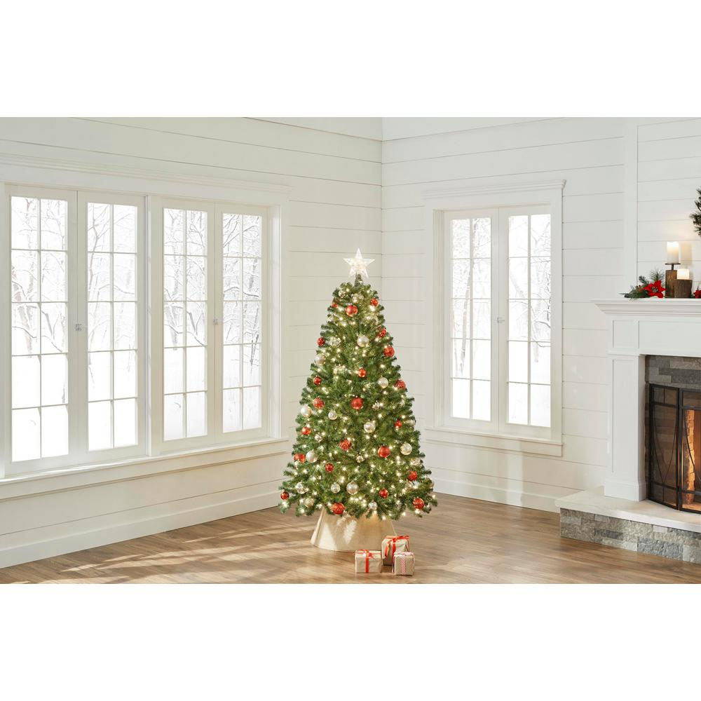 promo code 85e77 68116 Home Accents Holiday 6.5 ft. North Valley Spruce Artificial Christmas Tree  with 450 Lights