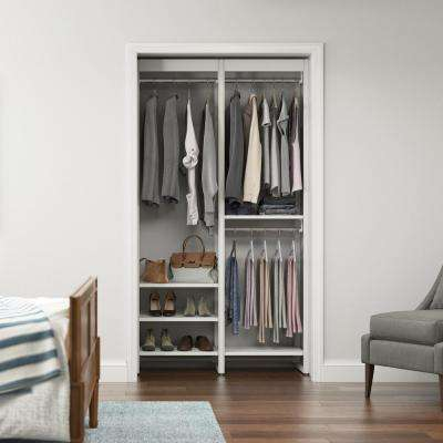 46.5 in. W White Adjustable Tower Wood Closet System with 7 Shelves