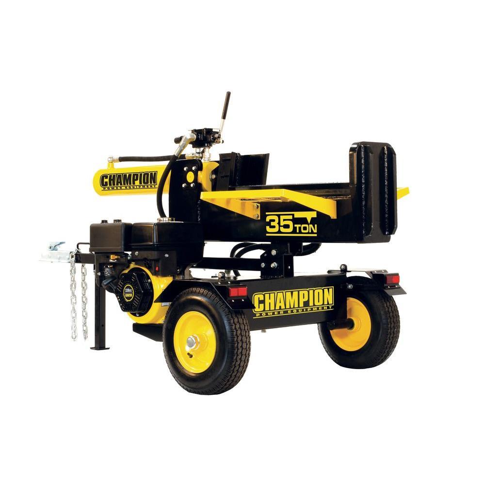 Champion Power Equipment 35-Ton Hydraulic Log Splitter with Log Catcher