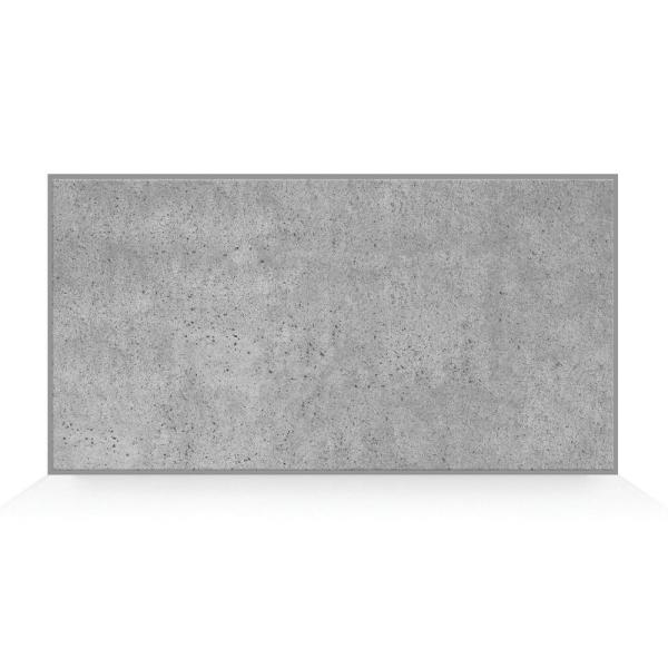 Blok Concrete 22.56 in W x 11.58 in. H Gray Peel and Stick Self-Adhesive Mosaic Wall Tile Backsplash (2-Pack)