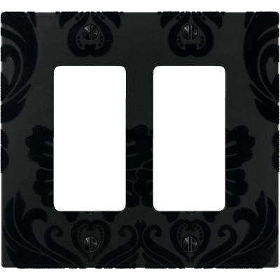 Velvet 2 Decora Wall Plate - Black