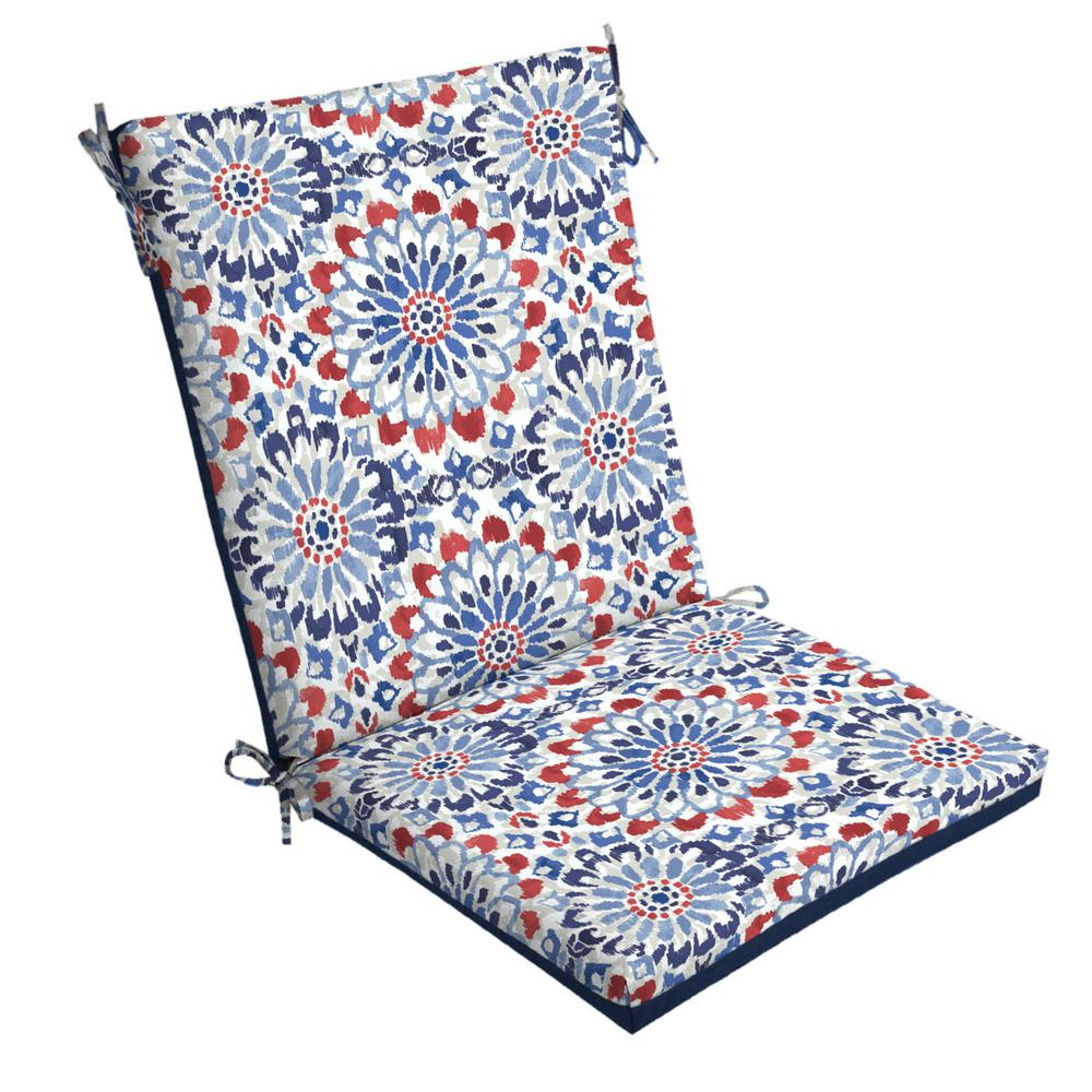 Arden Selections 20 X 44 Clark Reversible High Back Outdoor Dining Chair Cushion Th1f170a D9z1 The Home Depot
