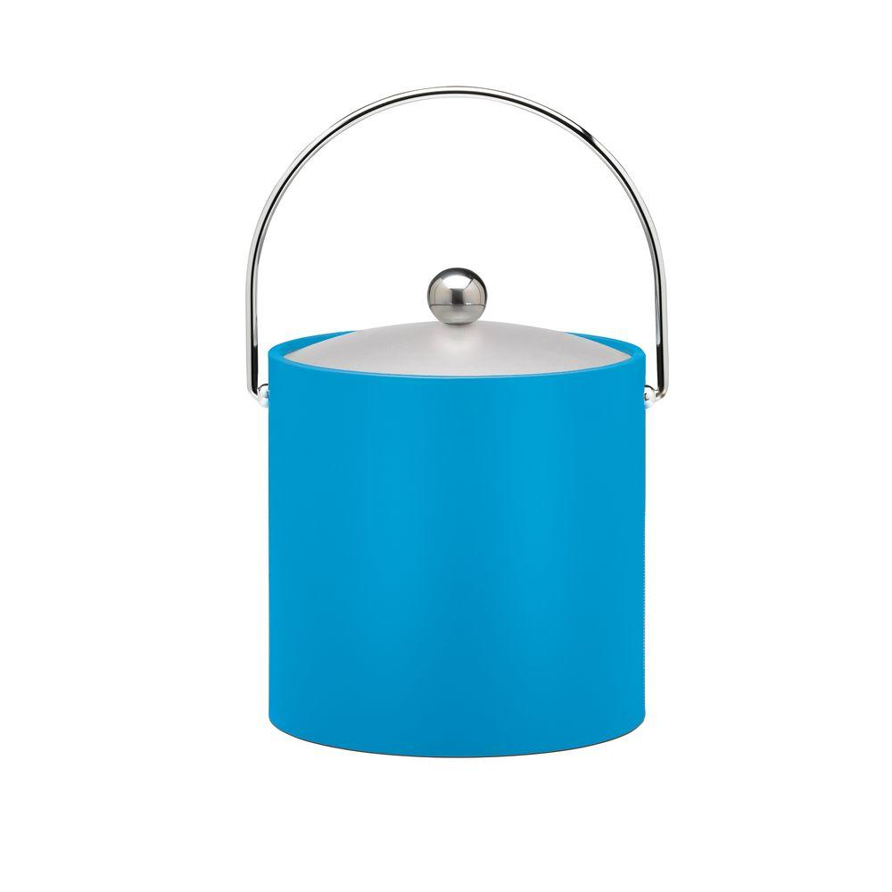 Kraftware 3 Qt. Insulated Ice Bucket in Process Blue