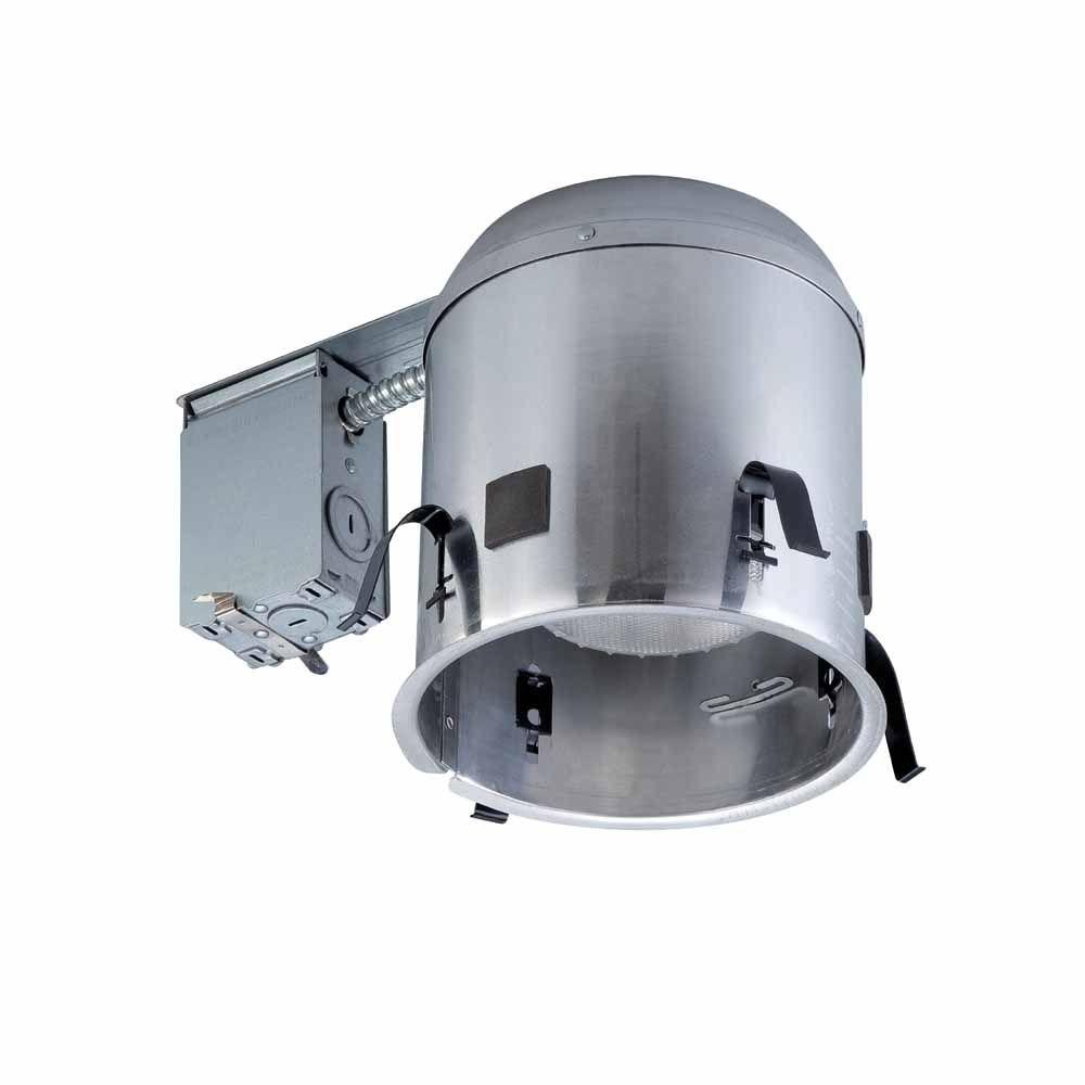 Commercial Electric 6 in. Aluminum Recessed IC Remodel Airtight Housing (6-Pack)