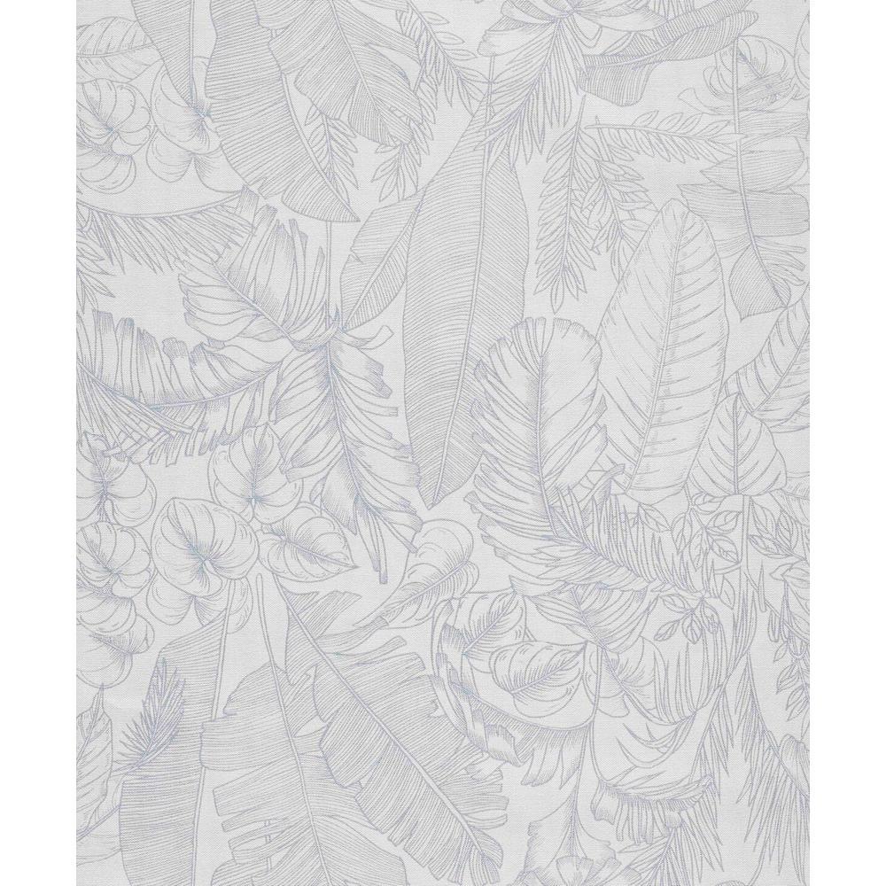 White Linen Jungle Wallpaper