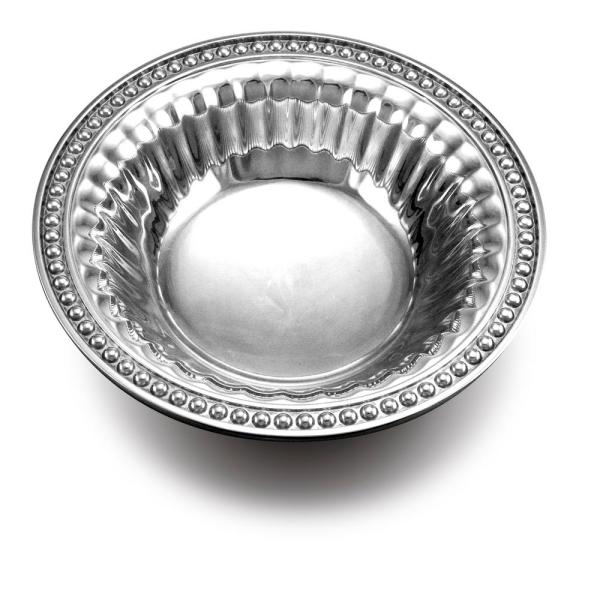 Wilton Armetale Flutes and Pearls 18 oz. Round Snack Bowl 272935