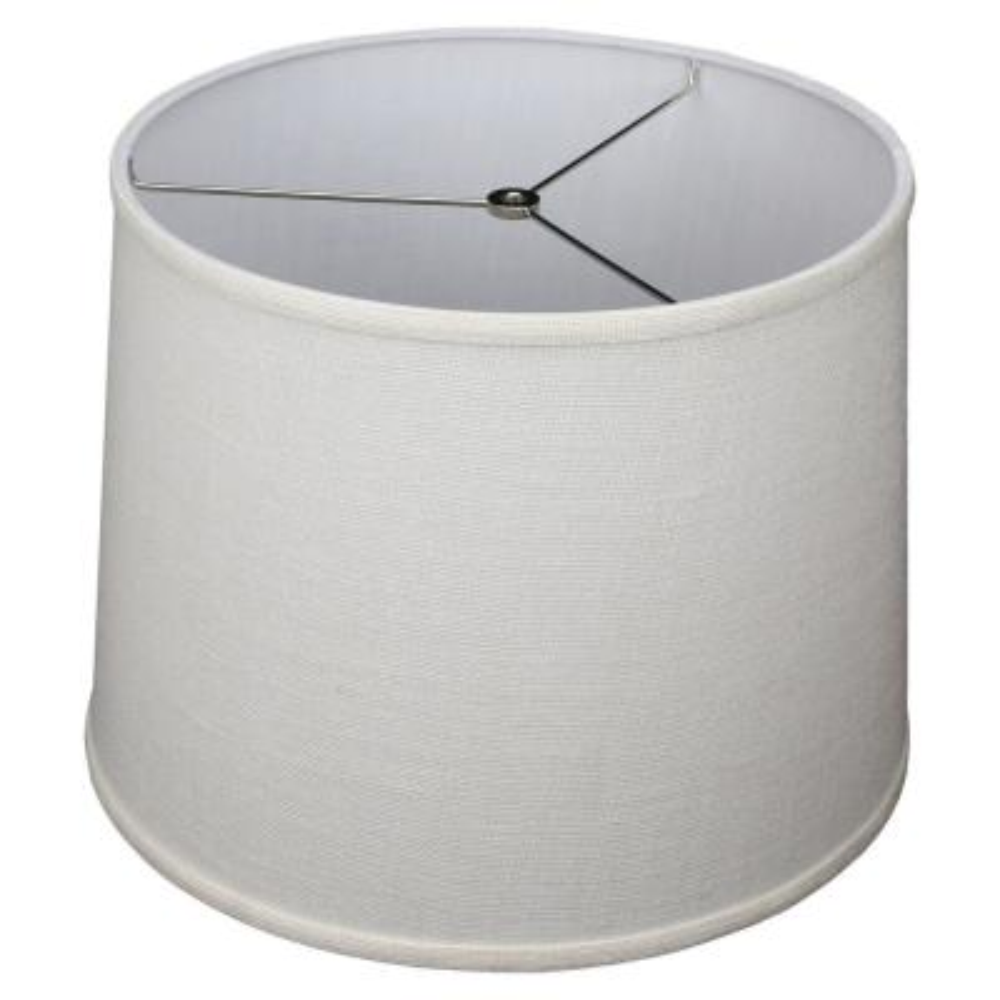 14 in. Top Diameter x 16 in. Bottom Diameter x 12 in. Slant Burlap Off White Empire Lamp Shade