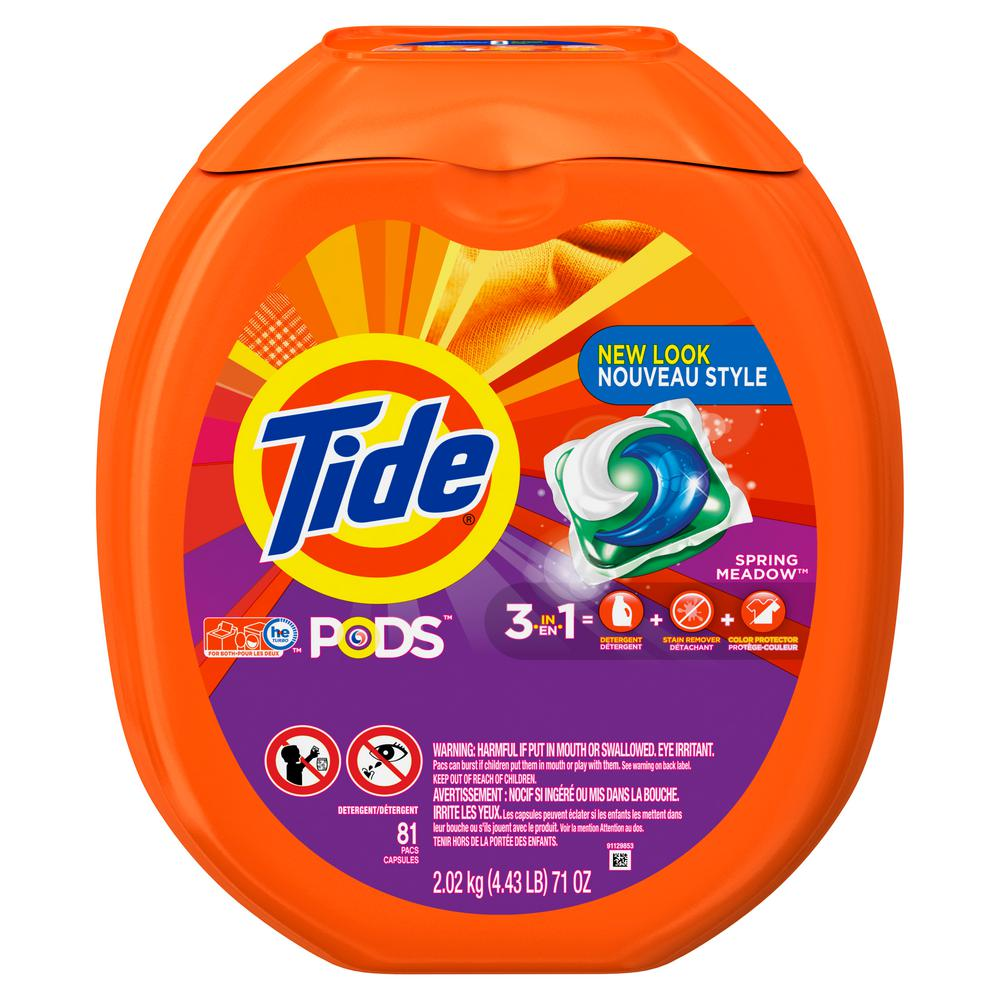 Tide Pods Spring Meadows Laundry Detergent (81-Count)