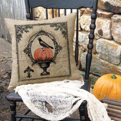 Victorian Halloween Natural Halloween Decorative Pillow