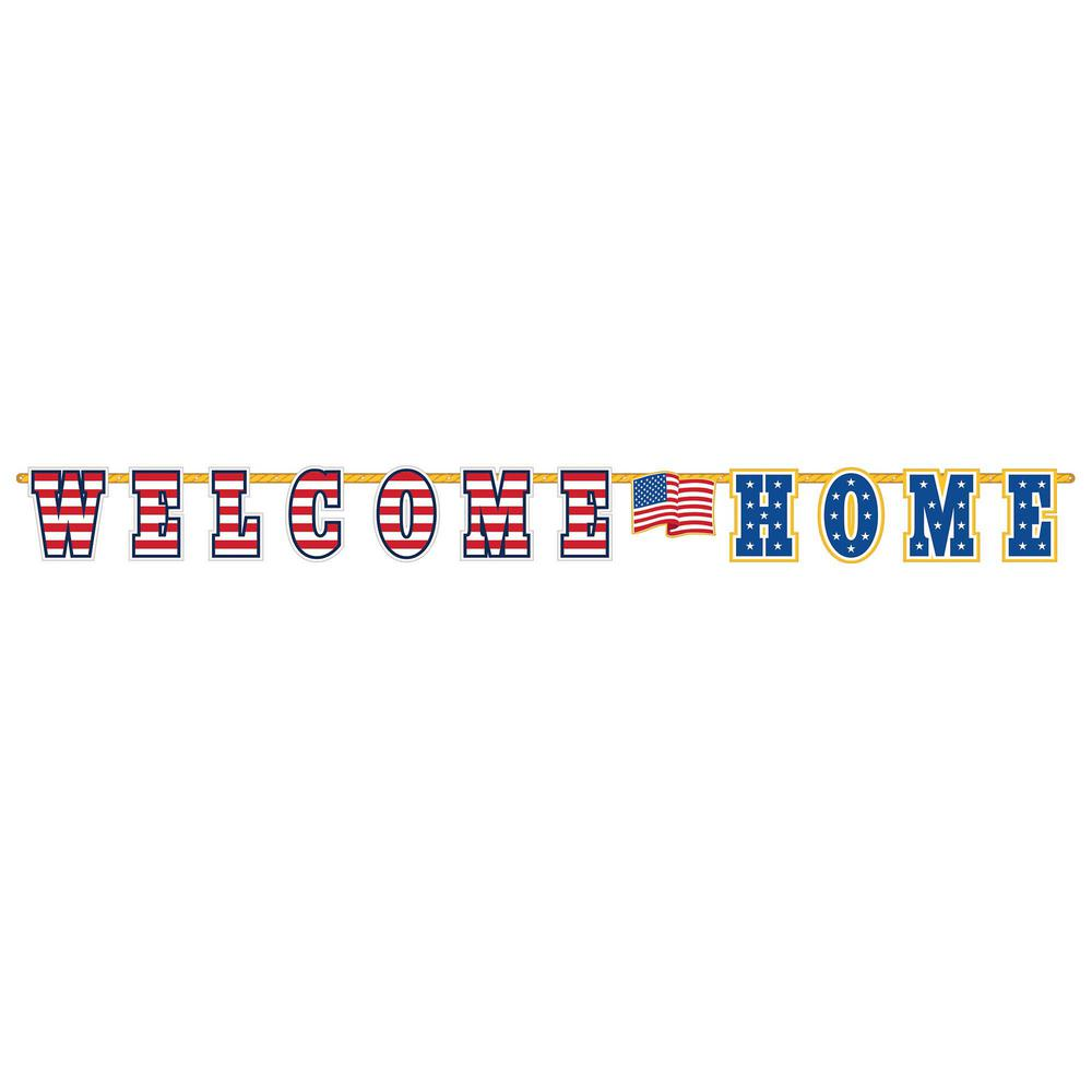Amscan 12.5 in. x 11 ft. Welcome Home Letter Banner (2-Pack)