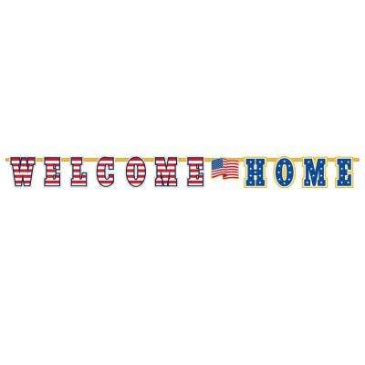 12.5 in. x 11 ft. Welcome Home Letter Banner (2-Pack)