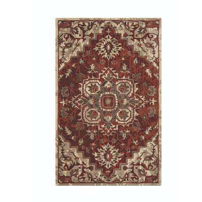 Bordeaux Spice 4 ft. x 6 ft. Area Rug