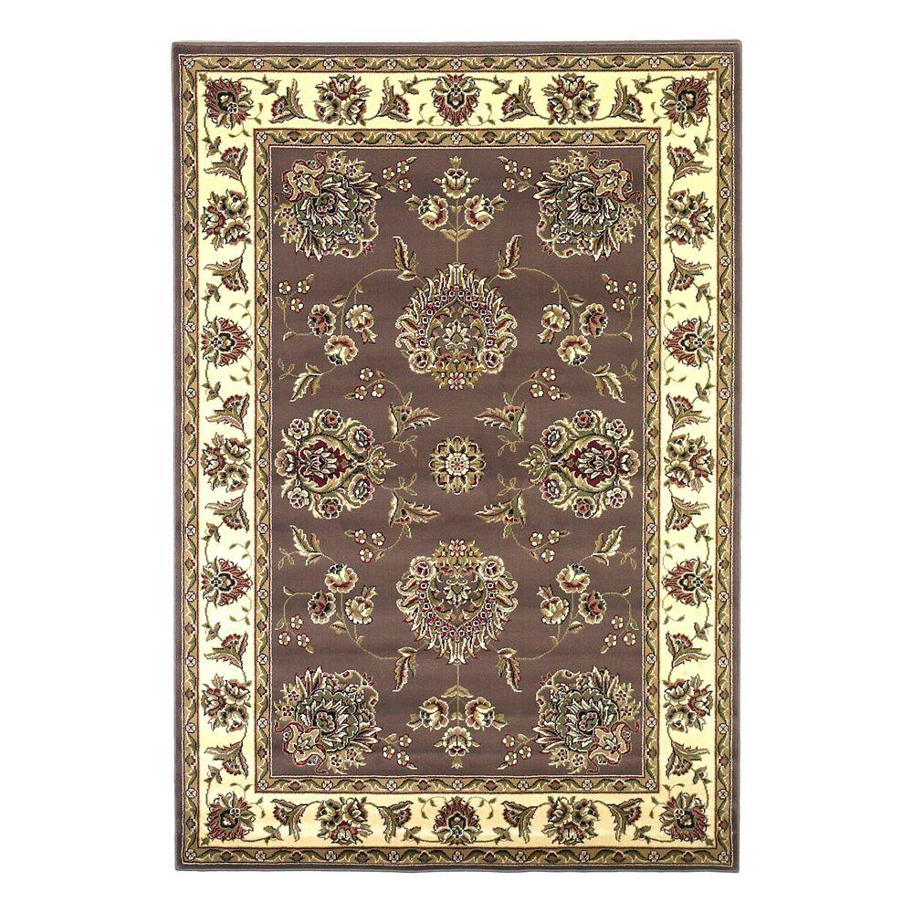 Kas Rugs Classic Mahal Plum/Ivory 7 ft. 7 in. x 10 ft. 10 in. Area Rug