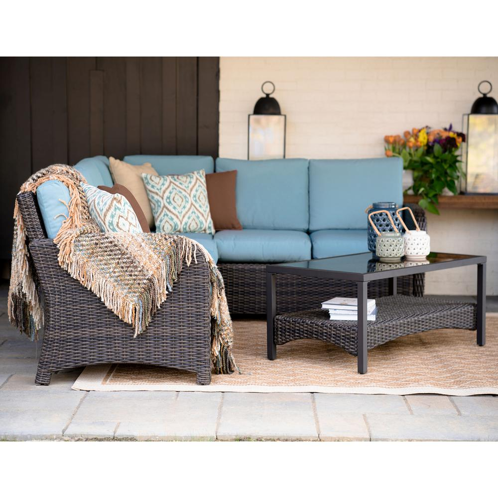 Leisure Made Jackson 5 Piece Wicker Outdoor Sectional Set