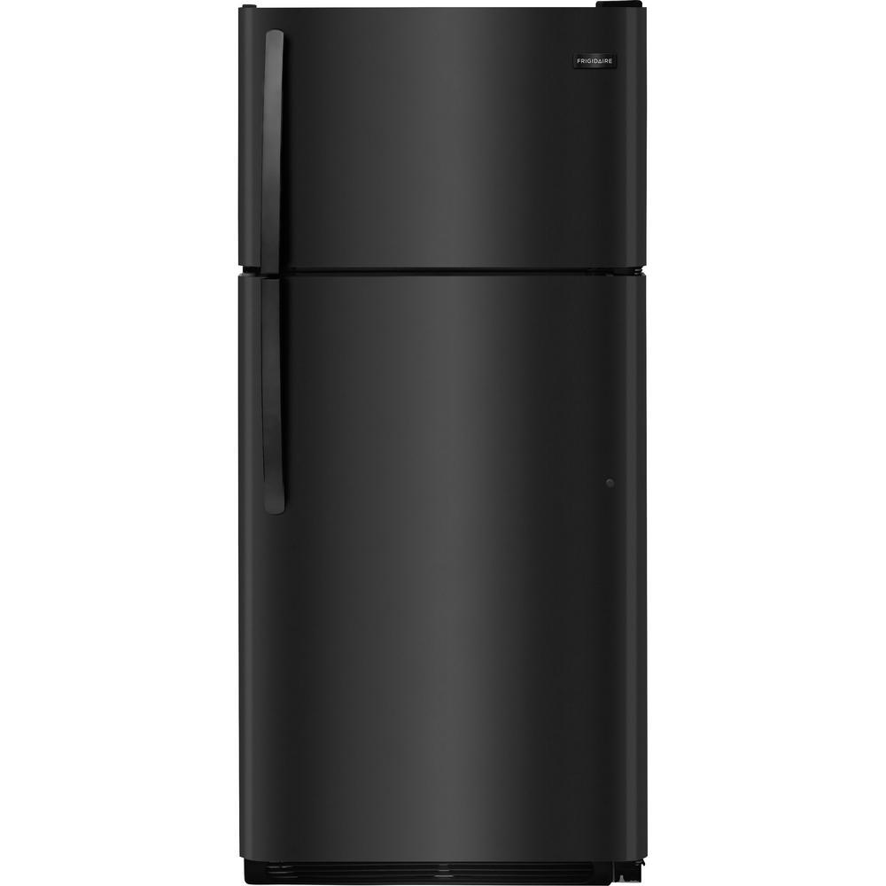 Frigidaire 20 4 Cu  Ft  Top Freezer Refrigerator In Black