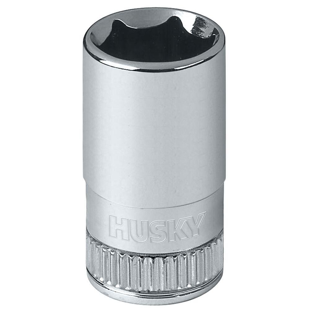 Husky 1/4 in. Drive 10 mm 6-Point Metric Standard Socket