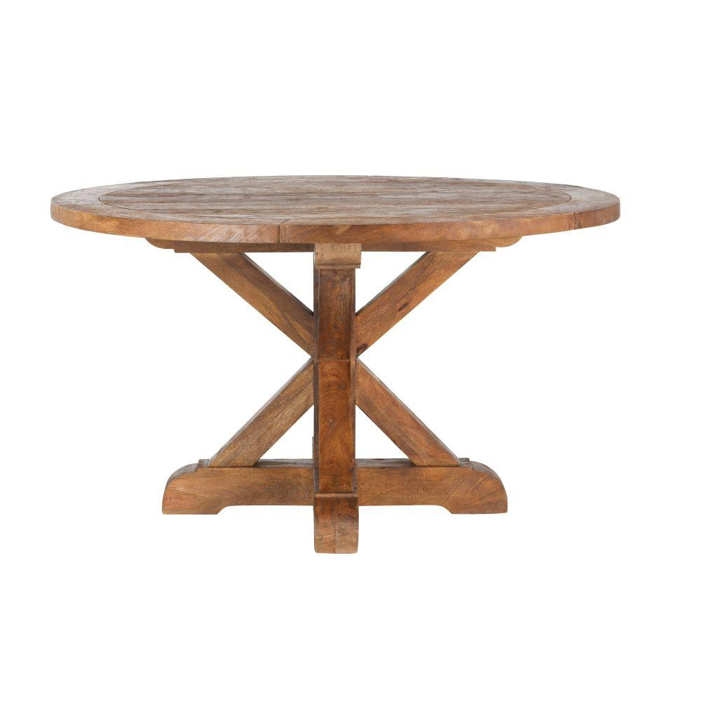 Home Decorators Collection Cane Bark Round Dining Table 9415600860