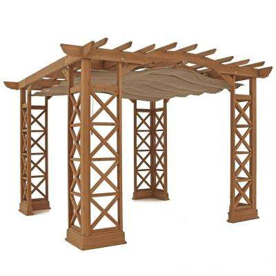 Preston 12 ft. x 14 ft. Pergola with Retractable Sun Shade