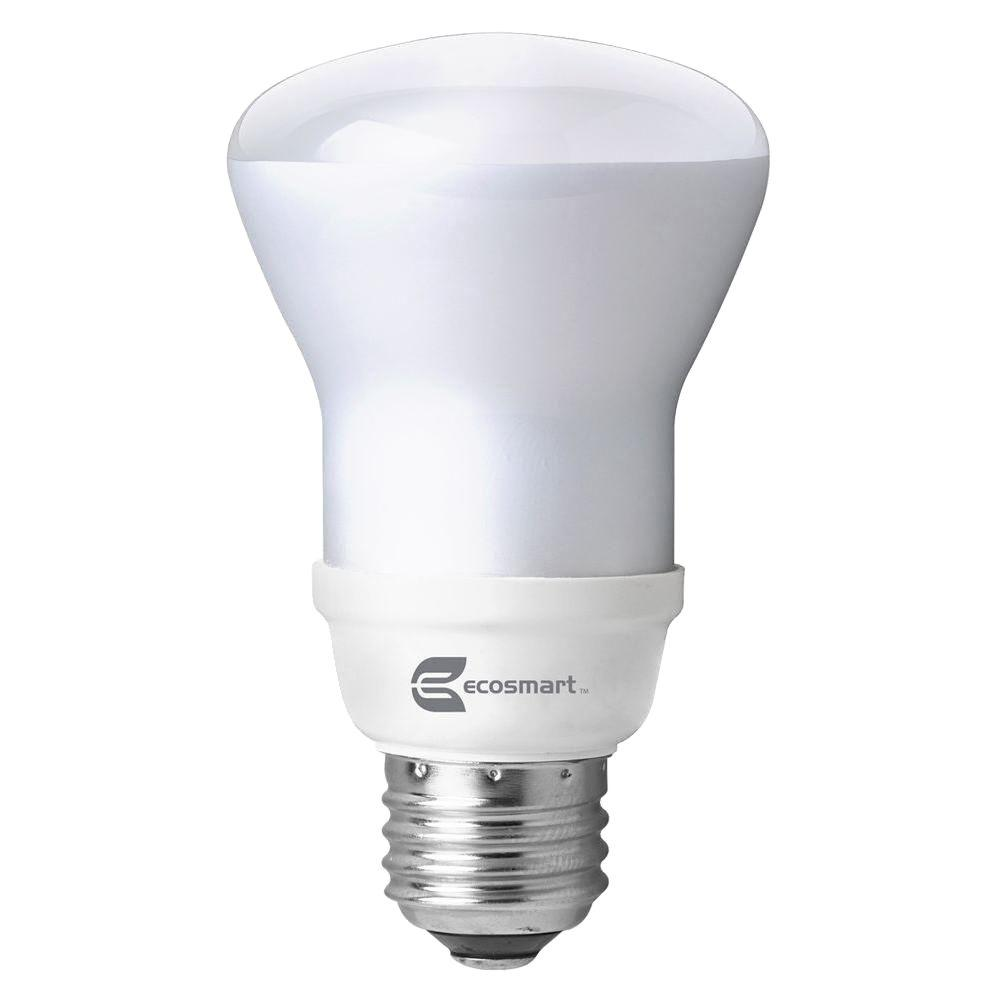EcoSmart 50W Equivalent Soft White (2700K) R20 CFL Flood Light Bulb (4-Pack)