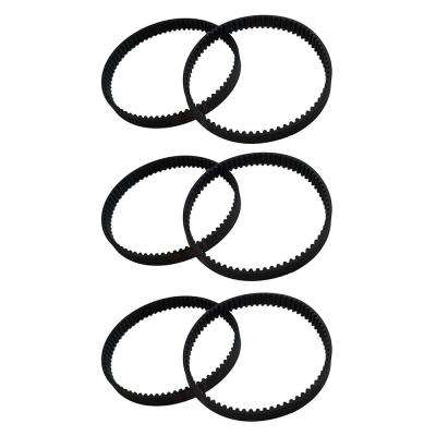 6-Pack Replacement 8 mm Vacuum Belts, Fits Dyson DC17, Compatible with Part 911710-01