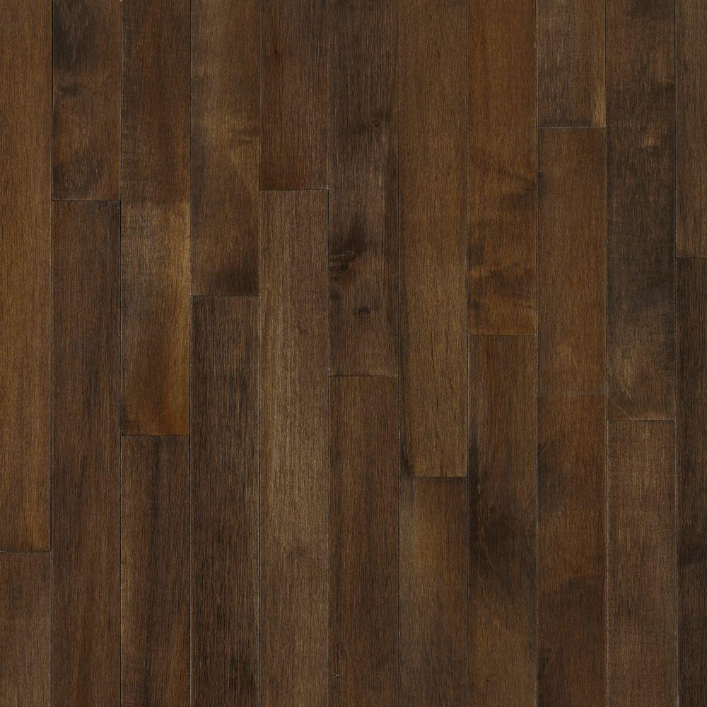 BRUCE Cappuccino Maple 3/4 in. Thick x 3-1/4 in. Wide x V...