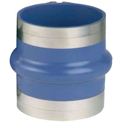 Silicone VHT 5 in. to 4 in. Single Hump Hose with T-Bolt Clamps, Blue