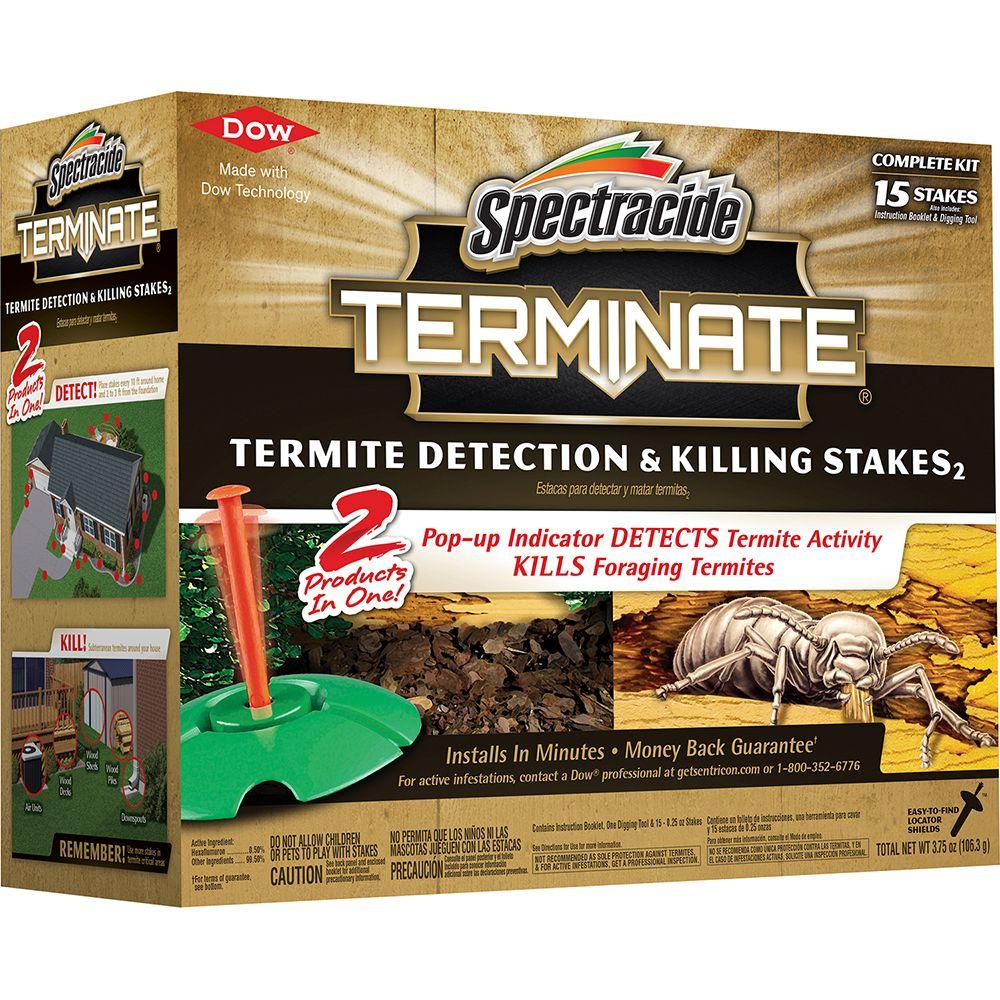 spectracide terminate termite detection and killing stakes (15-count