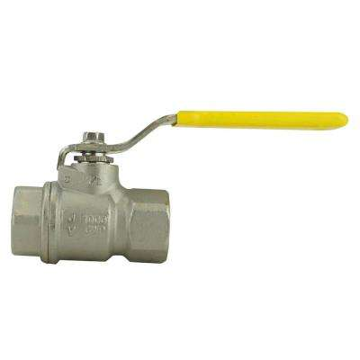 1/2 in. Stainless Steel FNPT x FNPT Full-Port Ball Valve