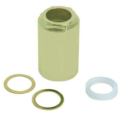 2 in. 1-Handle Tub and Shower Faucet Stem Retainer Nut for Mixet Faucets in Polished Brass