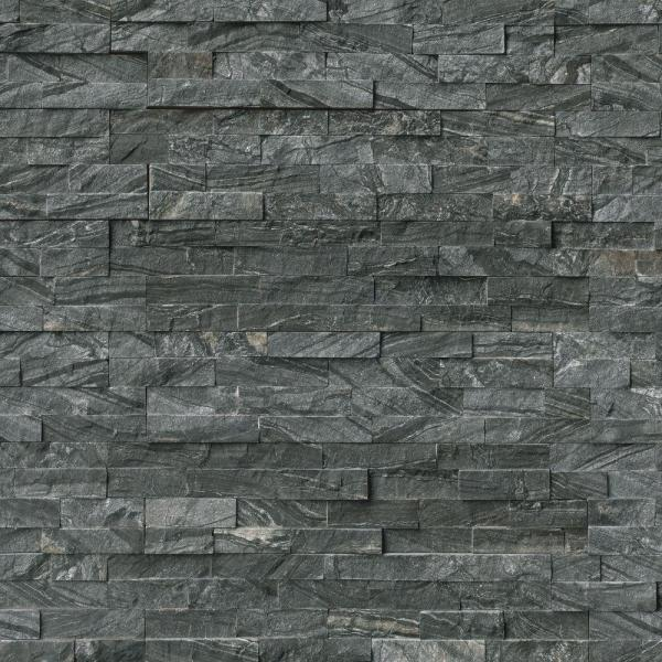 Glacial Black Ledger Panel 6 in. x 24 in. Natural Marble Wall Tile (10 cases / 60 sq. ft. / pallet)