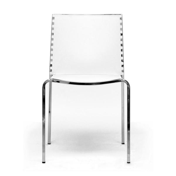 Baxton Studio Gridley White Finished Plastic Dining Chairs (Set of 2)