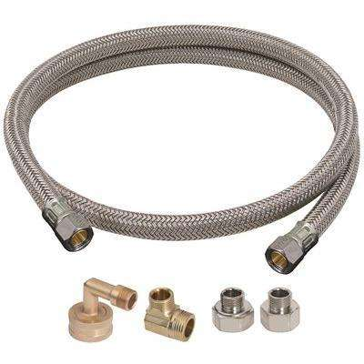 Universal Dishwasher Installation Kit Includes One 3/8 in. Compression Inlet x 3/8 in. Compression Outlet