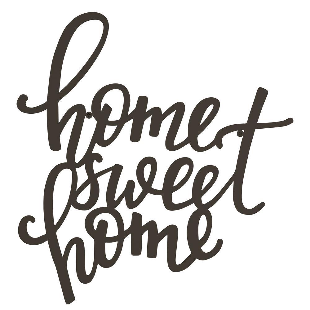 """Home Sweet Home"" Metal Cutout Sign"