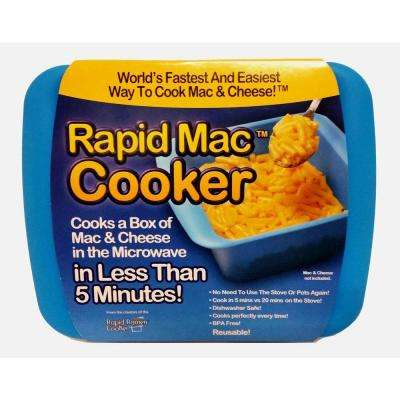 Blue Microwave Macaroni and Cheese Cooker