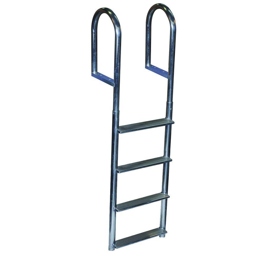 Dock Edge 4 Step Wide Step Aluminum Dock Ladder