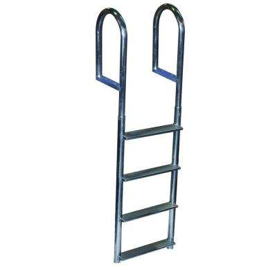 4 Step Wide Step Aluminum Dock Ladder