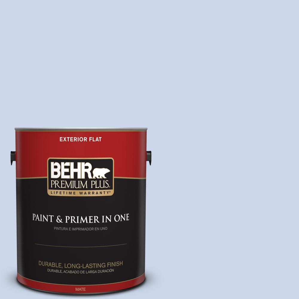 BEHR Premium Plus 1-gal. #590A-2 Monet Lily Flat Exterior Paint