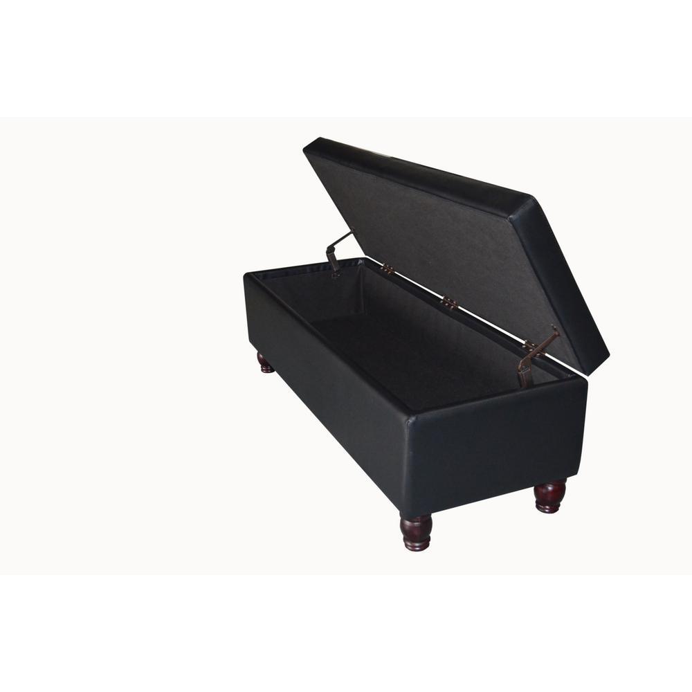 Black Storage Bench