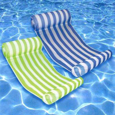 Key West Blue and Lime Swimming Pool Hammock Combo (2-Pack)