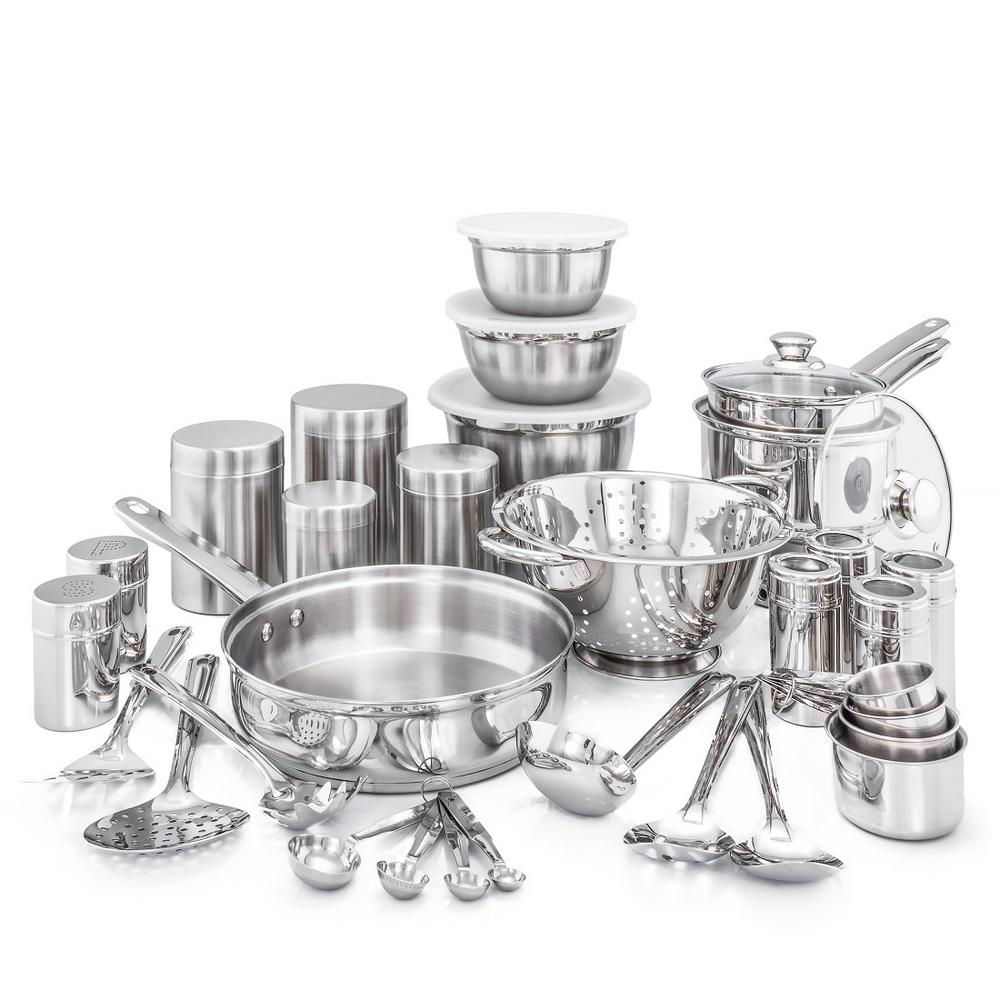 All Stainless Kitchen Sets
