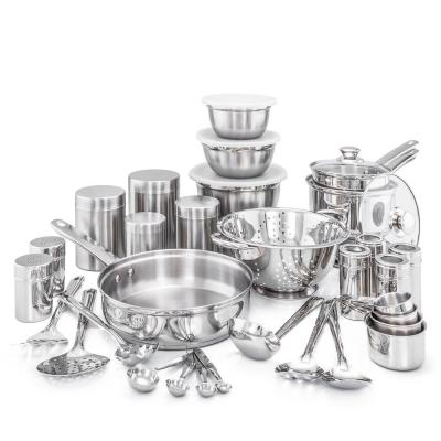 Kitchen in a Box 36-Piece Stainless Steel Cookware Set